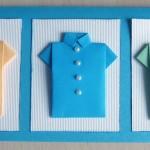 Открытки на 23 февраля. Рубашки оригами