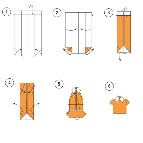 Оригами схемы открытки