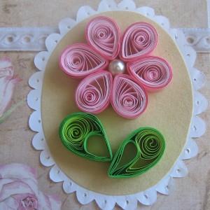 квиллинг многоцветный цветок