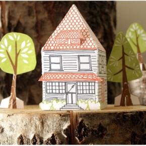 Домики из картона - маленькое королевство из доступных материалов