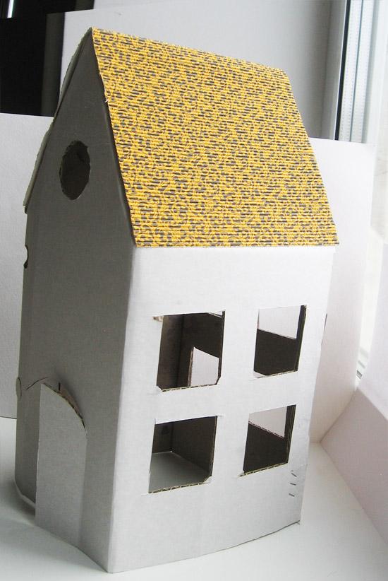 Сделать домик с картону - Как из картона сделать домик своими руками, мастер класс