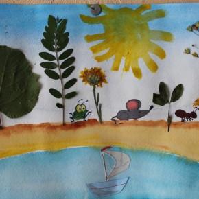 4 идеи для творчества: Картины из сухих листьев