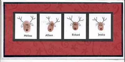 открытка с оленями
